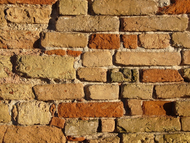 red bricks wall