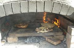 masonry oven, fireplace, cuisine, hearth,