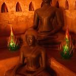 Meditating Buddhas - Vientiane, Laos