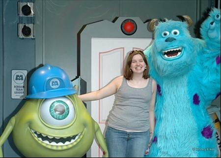 Sarah with Mike and Sully