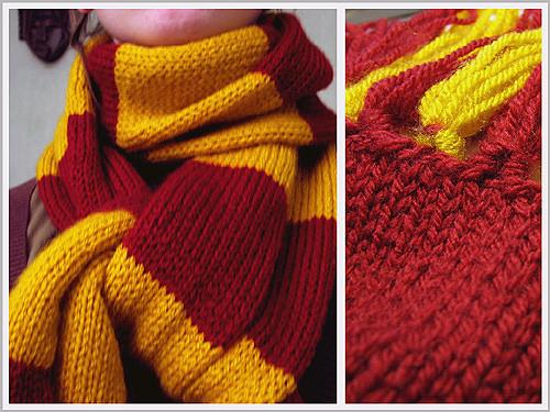 Knitting Pattern Gryffindor Scarf : Gryffindor scarf (a.k.a