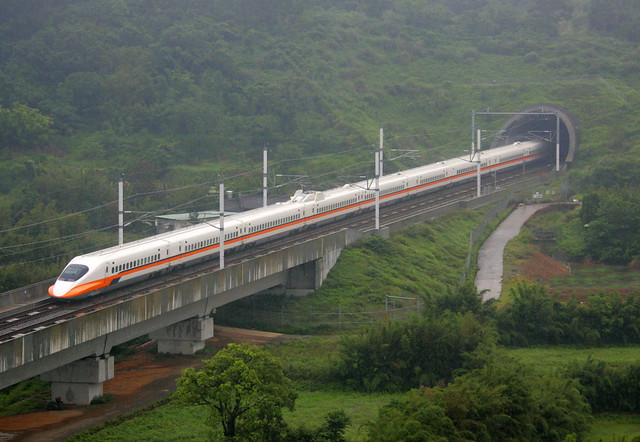 A high speed rail link in Taiwan