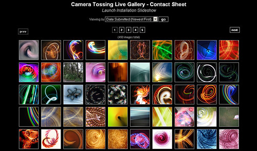 Camera Toss Community Gallery (Contact Sheet Mode) by clickykbd