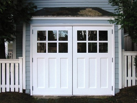 Phinney Ridge Carriage House Door Real Out Swing