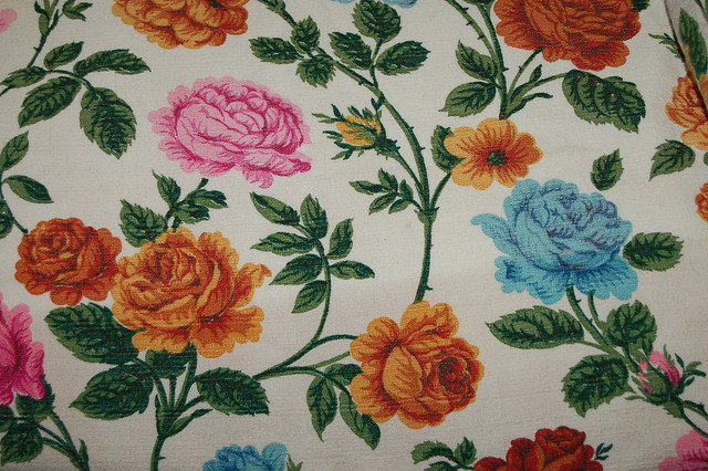 Rose fabric (curtain)