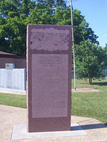 Healdton, OK First Regulated Oil Field Monument | Flickr ...