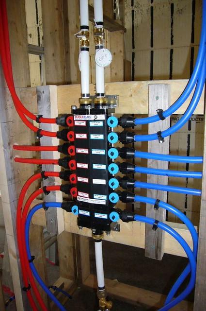 Pex plumbing diagram pex plumbing v rigid pipe system for Pex pros and cons