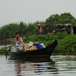 Woman on a Boat - Battambang, Cambodia