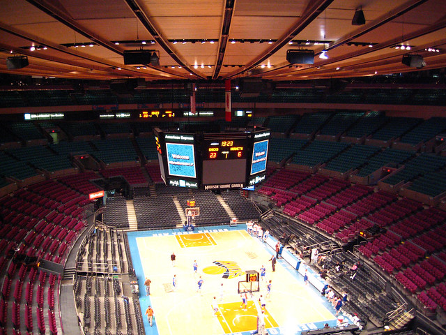 The main arena at Madison Square Garden