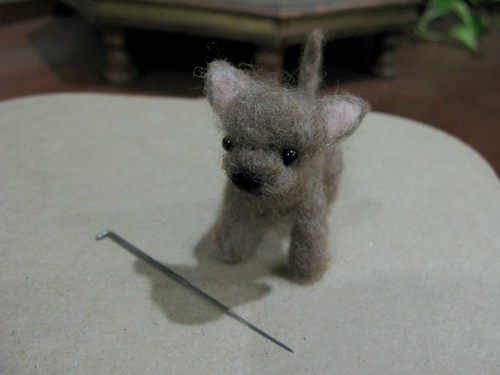 My Very 1st Attempt At Needle Felting!!!! I LOVE IT!!!!