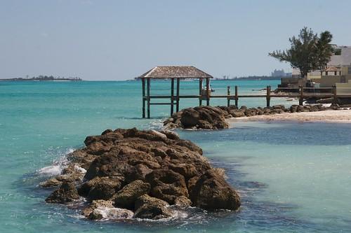 ocean sky beach rocks paradise sandals resort caribbean bahamas nassau sandalsroyalbahamian