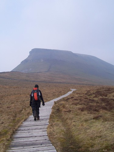 Starting the ascent of Pen-y-gent