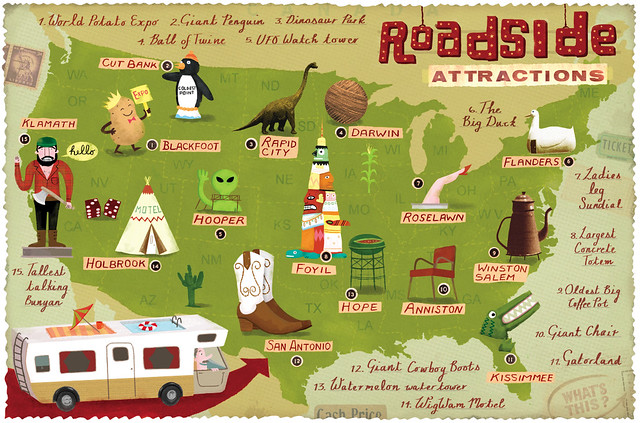Roadside attractions map flickr photo sharing