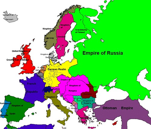Europe map 1914 Flickr Photo Sharing