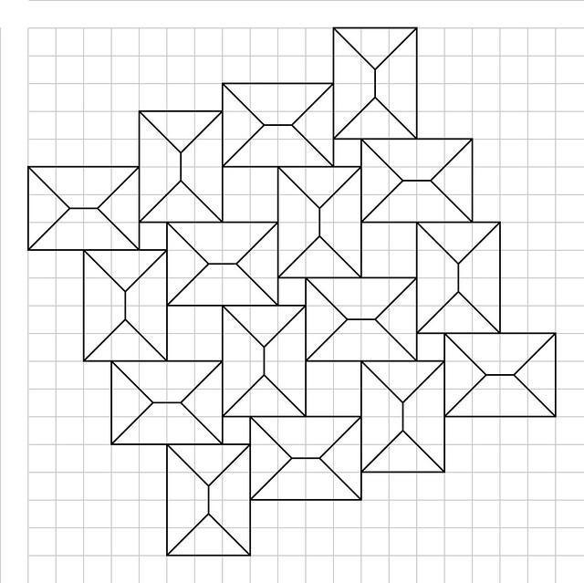 crease pattern for squares flagstone tessellation flickr photo sharing. Black Bedroom Furniture Sets. Home Design Ideas