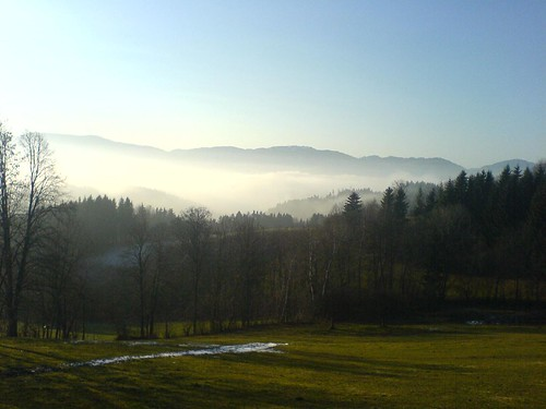 Bodennebel bei Birkfeld/Steiermark