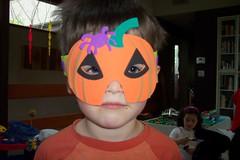 Nick wearing my halloween mask