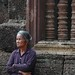 Woman Waiting at Banteay Srei - Angkor, Cambodia