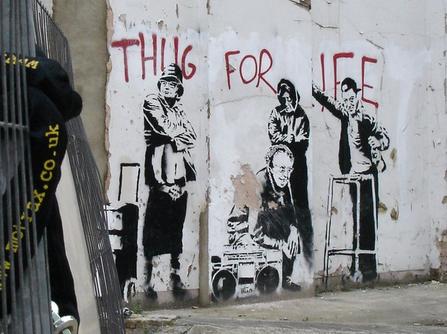 banksy thug for life