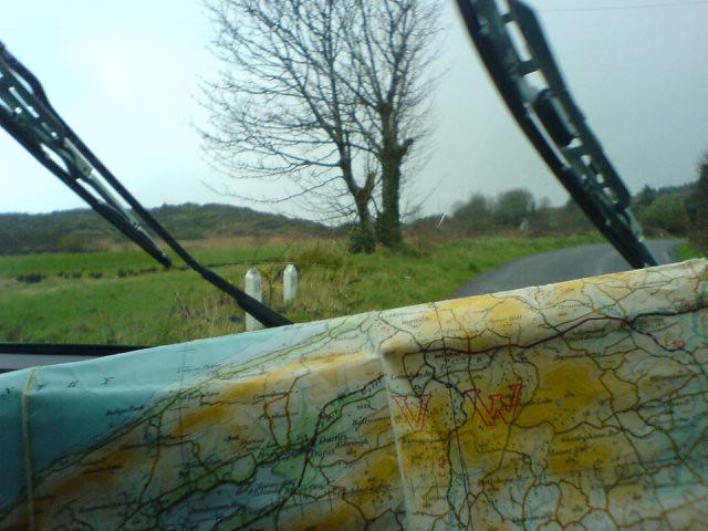 Rain, road, map