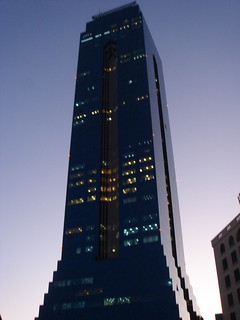 the blue tower in Bahrain..