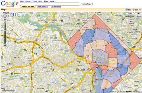 Dc Taxi Zone Google Map Flickr Photo Sharing