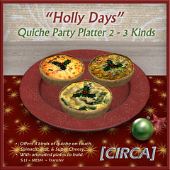 "@ Twisted Krissmuss ~ [CIRCA] - ""Holly Days"" - Quiche Party Platter 2"