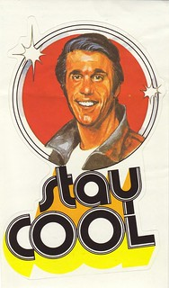 The Fonz Stay Cool Happy Days - Sticker
