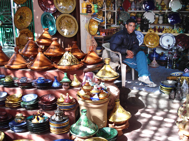 Ouarzazate market, lights and colors
