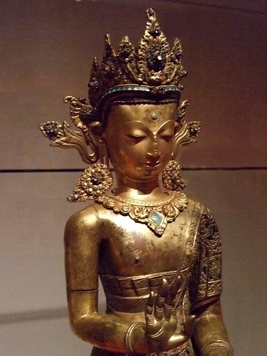 The Buddha Dipankara 1600-1700 Nepal Gilt Copper Repousse (1)