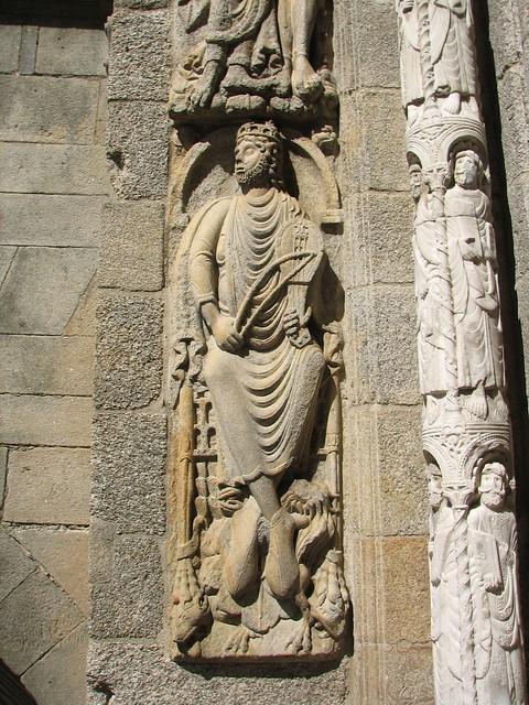 Catedral - Puerta de Platerías - Rey David