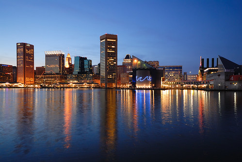city wallpaper urban reflection water skyline lights harbor nikon downtown cityscape waterfront skyscrapers postcard illumination sigma maryland baltimore lookatme d200 1020mm innerharbor 2007 nikonstunninggallery ci33
