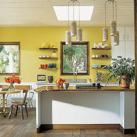 Yellow Kitchens White Wood And White Walls On Pinterest