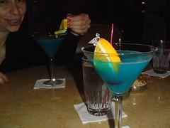 Drinks in the Peabody lobby