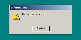 Restart, human!