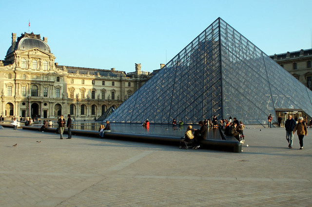 The Louvre museum in Paris, France