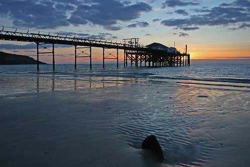 Totland Pier sunset