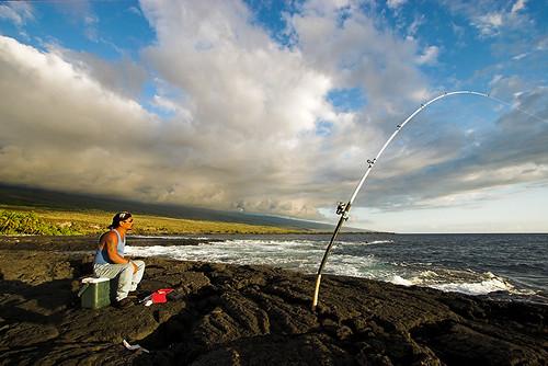 light hawaii fishing fisherman bigisland kona puuhonuaohonaunau placeofrefuge honaunau 43990