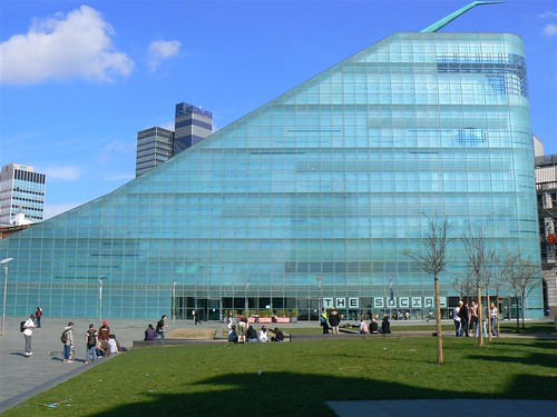 Urbis Building in Manchester, home of the National Football Museum