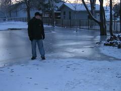 winter lawn skating