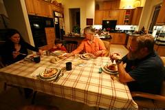 dinner: shrimp, mushrooms, pasta    mg 9532