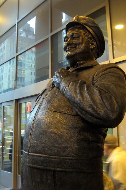 Nyc Port Authority Of New York Ralph Cramden Statue