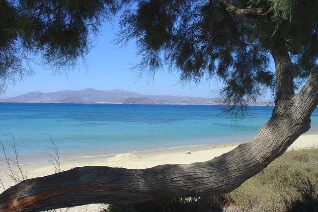 пляж в наксос