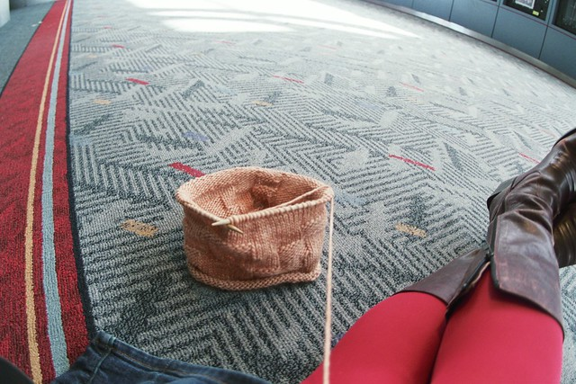 Knitting Needles Zurich Airport : Knitting legs boots denver airport flickr photo