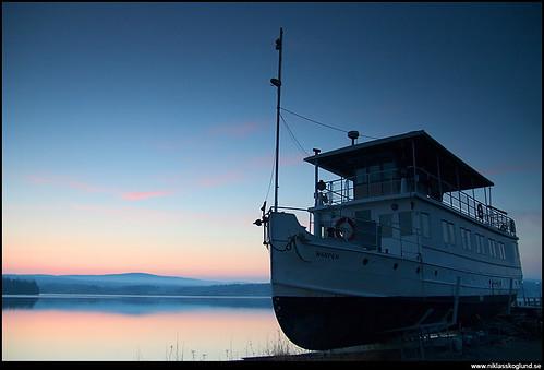 morning sunrise boat steamboat steamer