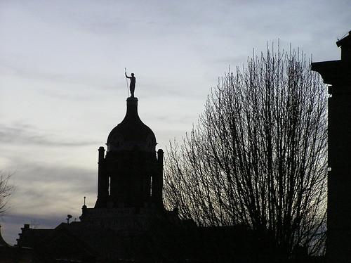 sunset tree statue missouri courthouse warrensburg