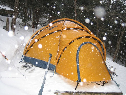 Winter tent by Caleb R on Flickr