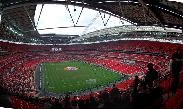 Wembley Panorama-England Vs Italy U21s