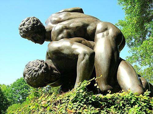 man statue garden naked nude skin butt alabama montgomery jasminehills
