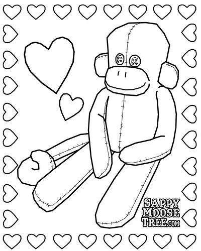 sock monkey coloring pages - birthdays on a budget sock monkey party